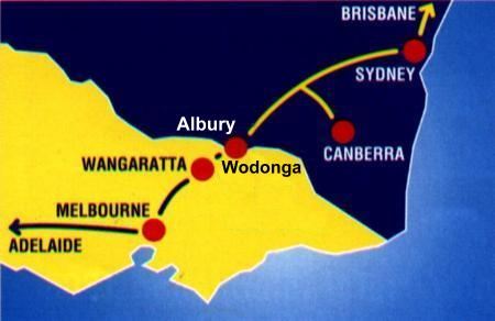 Wodonga Map Albury Wodonga Map